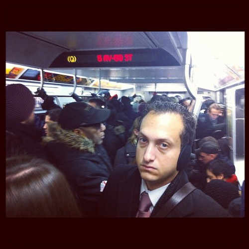 Packed subway