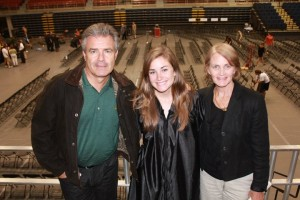 With parents at graduations