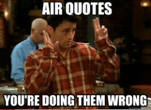 joey air quotes