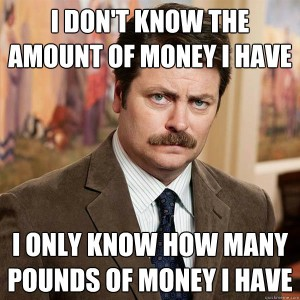 Ron Swanson Money meme